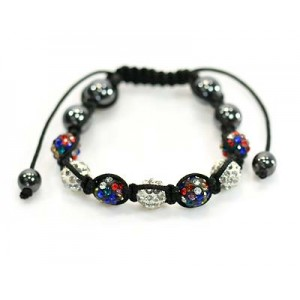 7 Adjustable Bracelet Rhinestone Balls Pierre 59069