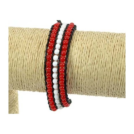 Rank 3 Beads Bracelet Fantasy on 59239 adjustable wire