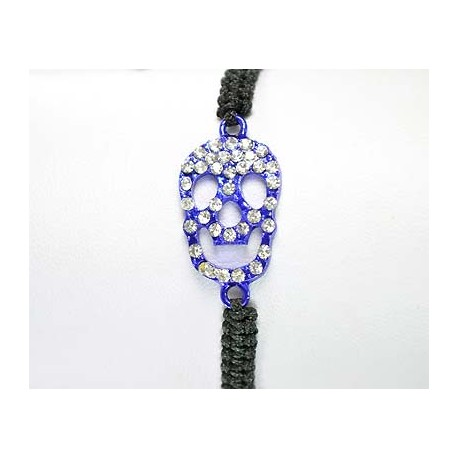Adjustable Bracelet Tete de Mort Strass 59259