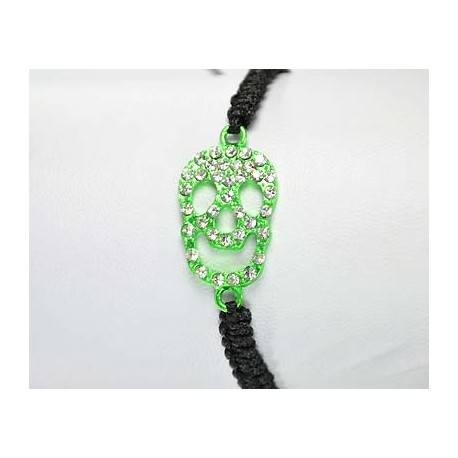 Adjustable Bracelet Tete de Mort Strass 59261