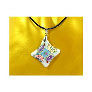 Necklace pendant with his pate Polymer New Spring Collection 65727