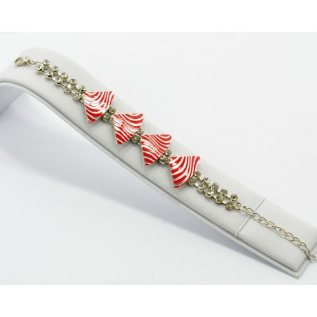 Bracelet métal argenté Strass Collection Maia L20cm 61231