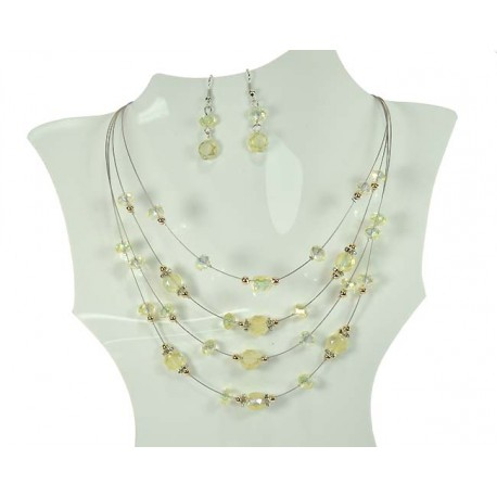 Parure Collier Suspension 4 Rang de Perles 59945