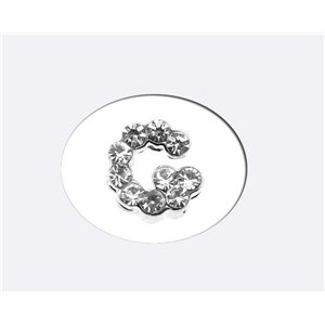 Initial Full Rhinestone Bracelet 8mm to 6mm first Letter G 69171
