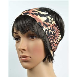polyester hair band fashion panther width 7cm 70719
