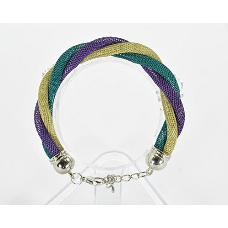 Bracelet twisted metal 61532 New Collection