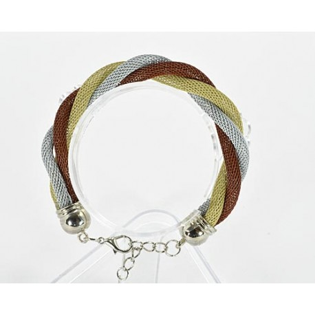 Bracelet twisted metal 61536 New Collection