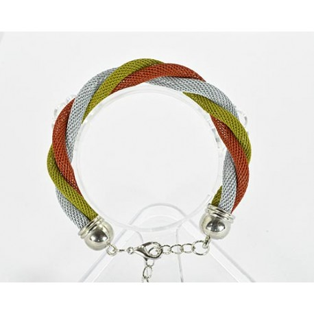 Bracelet twisted metal 61537 New Collection