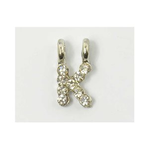 Initial Pendant full rhinestone 8mm name necklace letter k 69833