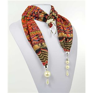 polyester scarf jewelry necklace new collection 2017 70995